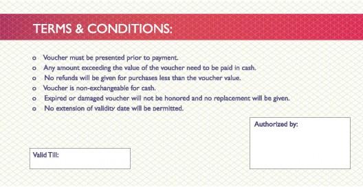 Cash Voucher $10 back